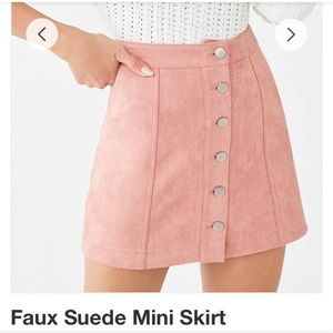 Forever 21 Pink Faux Suede mini skirt